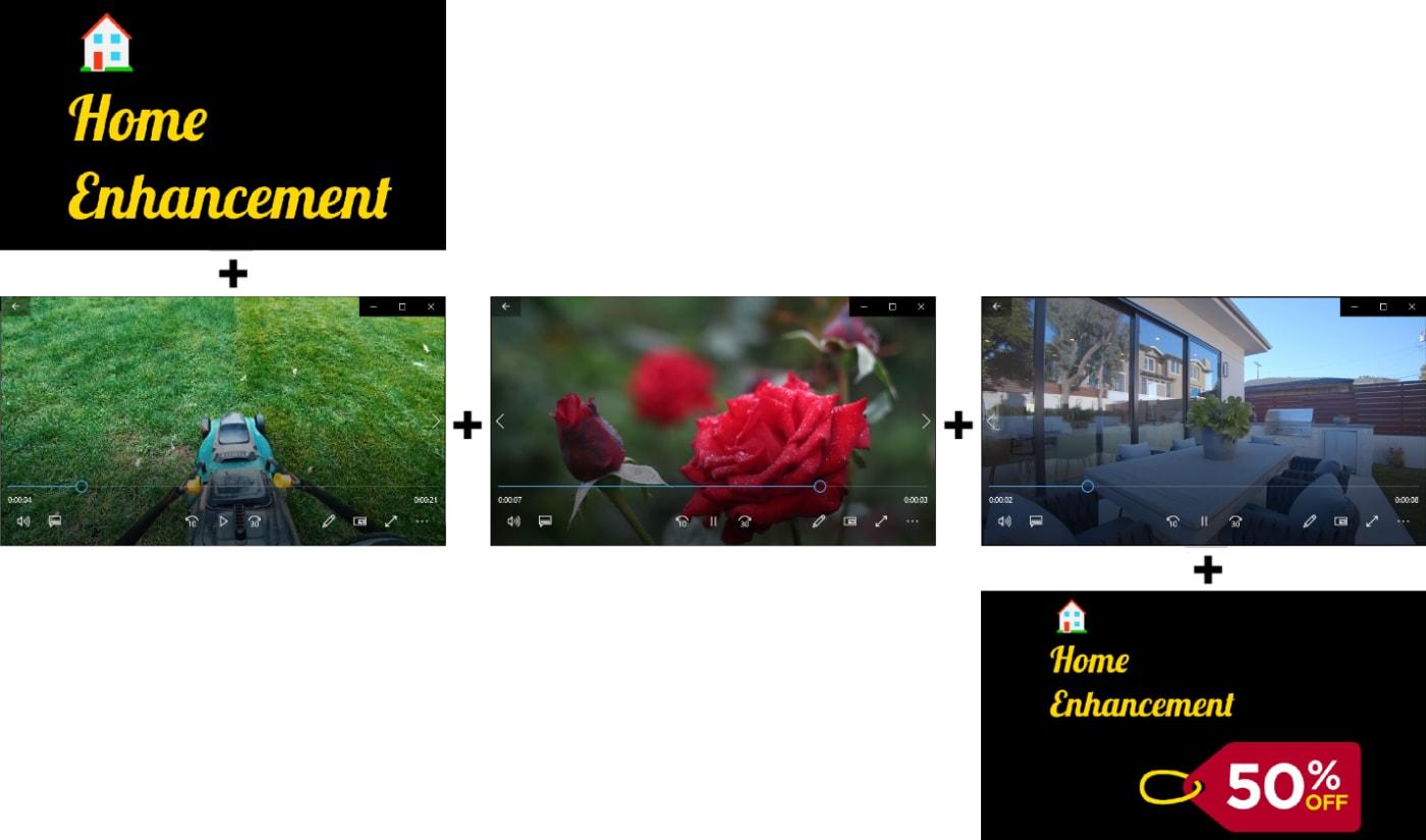 /concatenate video