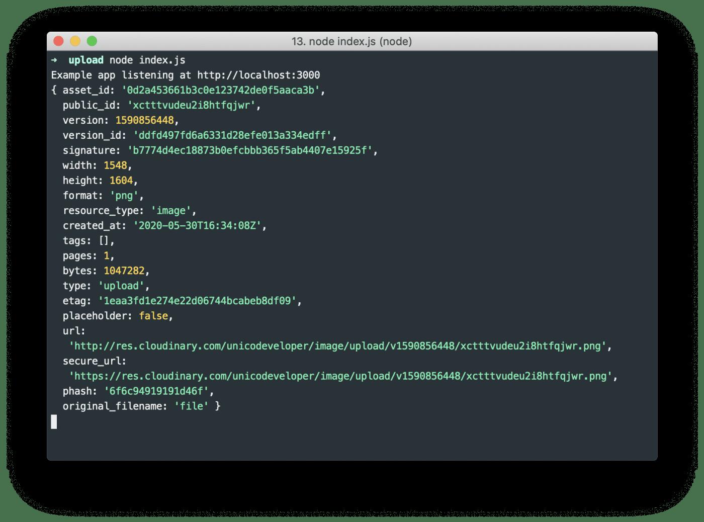 node.js index