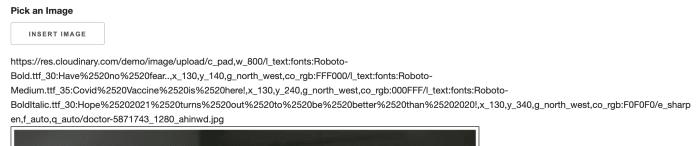 Cloudinary URL