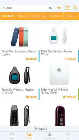 bidorbuy products page screenshot