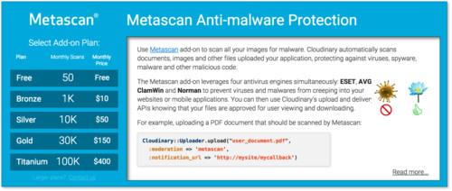 Metascan add-on screenshot