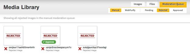 Rejected images queue