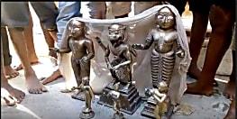 मंदिर से चोरी हुई मूर्तियां 4 माह बाद मिली लावारिस हालत में