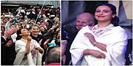 विदेश में रानी मुखर्जी ने फहराया तिरंगा, बोलीं-'विदेश में तिरंगा फहराना गर्व की बात'