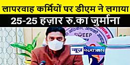 शिवहर डीएम ने की बड़ी कार्रवाई, पांच लापरवाह कर्मियों पर लगाया 25-25 हज़ार रूपये का जुर्माना