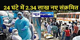एक दिन में 2.34 लाख मिले नए संक्रमित, सिर्फ 7 राज्यों में 69.05 फीसदी मरीज