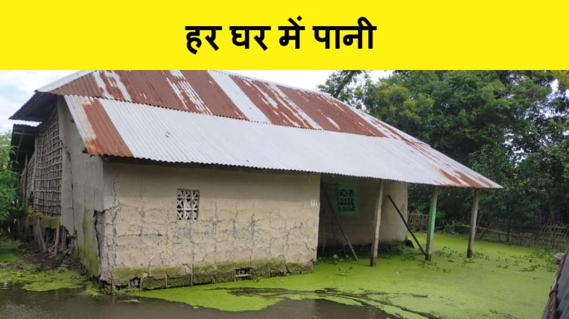 पूर्णिया में इस गाँव के हर घर में जमा है घुटने तक पानी, अधिकारीयों से गुहार लगाकर थक चुके हैं ग्रामीण