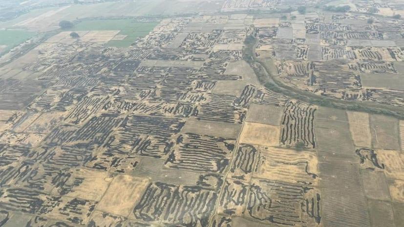 हवाई सर्वेक्षण में सबसे अधिक फसल अवेशष जलाने के मामले दक्षिण बिहार में मिले