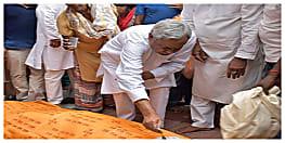 मुख्मंत्री नीतीश कुमार के ससुर कृष्णनंदन सिन्हा का निधन, सीएम ने दी श्रद्धांजलि