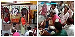 छोटी पटनदेवी में वाजपेयी के स्वस्थ्य होने के लिए भाजपा नेता व कार्यकर्ता कर रहे पूजा अर्चना
