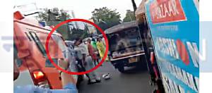 पटना ट्रैफिक पुलिस ने ड्राइवर को जड़ा थप्पड़, कारकेड रिहर्सल में फंसी थी एम्बुलेंस...