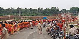 आखिरी सोमवारी को बाबाधाम में श्रद्धालुओं की भारी भीड़, लगी 12 किलोमीटर लंबी लाइन