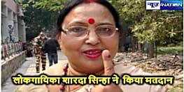 लोकगायिका शारदा सिन्हा ने परिवार के साथ किया मतदान, देखिए तस्वीरें ...