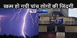 JHARKHAND NEWS: दर्दनाक: आफत बन कर गिरी आसमानी बिजली, एक ही परिवार के पांच लोगों की मौत