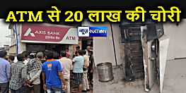 ऐक्सिस बैंक के ATM से 20 लाख रुपये की चोरी, वारदात सीसीटीवी कैमरे में कैद, चोरों ने गैस कटर से एटीएम को काटा