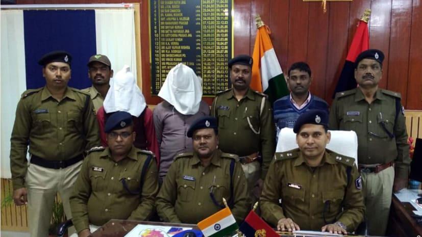 शिवहर में ग्राहक सेवा केंद्र में लूट की घटना को अंजाम देने वाले 2 लूटेरे मुजफ्फरपुर से गिरफ्तार