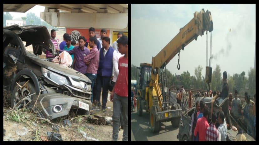 नवादा में भीषण सड़क दुर्घटना, जदयू नेता, जिला परिषद पति समेत 7 गंभीर रुप से घायल