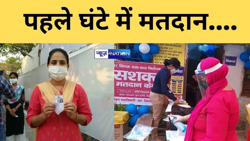 बिहार में दूसरे चरण के चुनाव में पहले घंटे 3.7 फीसदी मतदान,जानिए किस जिले में कितना वोटिंग...