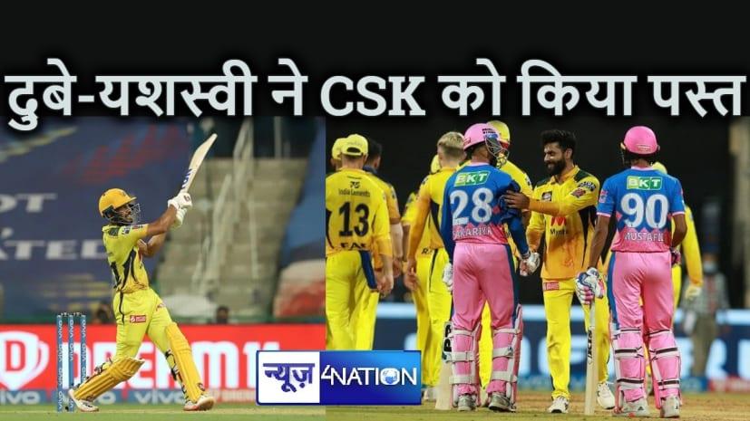 IPL 2021 : यशस्वी और शिवम दुबे के आगे फिकी पड़ी ऋतुराज की शतकीय पारी, सात विकेट से जीत दर्ज कर रोमांचक किया प्ले ऑफ की रेस