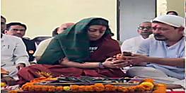 नामांकन दाखिल करने से पहले भगवान की शरण में केन्द्रीय मंत्री स्मृति ईरानी, पति के साथ की  पूजन-हवन