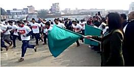 मानव श्रृंखला को लेकर जागरूकता अभियान की हुई शुरुआत, हाजीपुर में आयोजित हुआ मिनी मैराथन