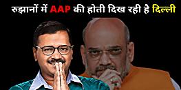 Delhi Election Result LIVE: रुझानों में 'AAP' की होती दिखने लगी दिल्ली, सियासी हैट्रिक की ओर केजरीवाल