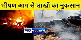 बिहार में आग का कहर, सुपौल में जली बकरियां, पटना में लाखों के पुआल जलकर स्वाहा