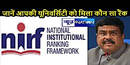 NATIONAL NEWS: शिक्षा मंत्री ने जारी की साल 2021 की NIRF रैंकिंग, यहां जानें कौन हैं देश के टॉप 10 विश्वविद्यालय