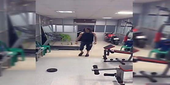 जिम में जमकर पसीना बहा रहे हैं तेजप्रताप यादव, देखें VIDEO