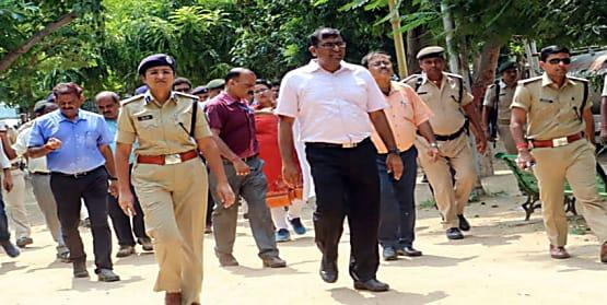 बकरीद और स्वतंत्रता दिवस की तैयारियों का जायजा लेने गांधी मैदान पहुंचे DM और SSP, अधिकारियों के दिए निर्देश