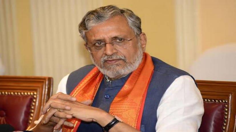 सुशील मोदी बोले:  राजद-कांग्रेस के पैरों तले खिसक चुकी  जमीन, पराजय भांपकर चुनाव आयोग को कर रहे बदनाम