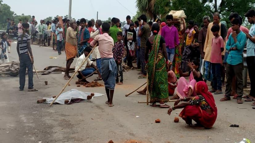 नवादा में अज्ञात वाहन की चपेट में आने से बच्ची की मौत, आक्रोशित लोगों ने किया सड़क जाम