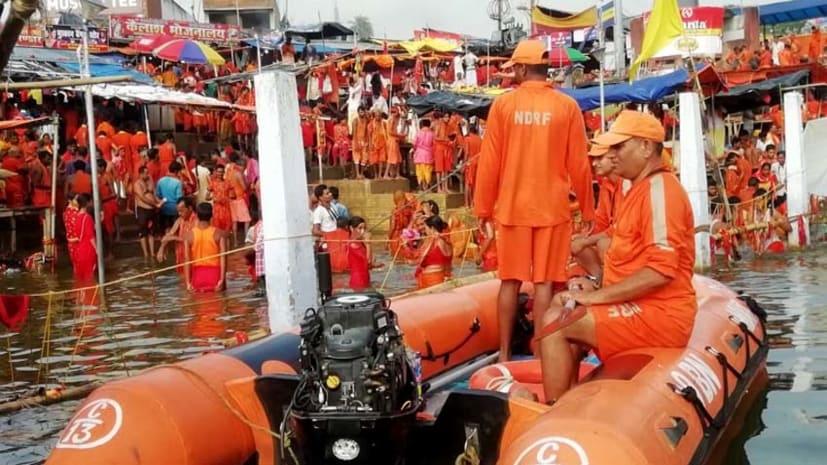 अनहोनी से बचाव : एनडीआरएफ बिहटा की 04 टीमें देवघर और बासुकीनाथ धाम में तैनात