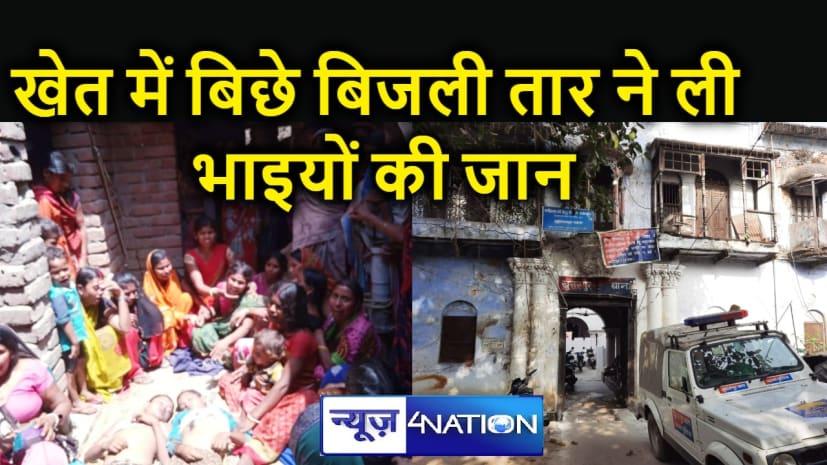 Bihar News : नील गाय से फसल को बचाने के लिए खेत में बिछा रखा था बिजली का नंगा तार, चपेट में आ गए दो भाई