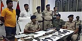 भोजपुर में हथियार तस्कर गिरोह का भंडाफोड़, भारी मात्रा में हथियार बरामद, 5 गिरफ्तार