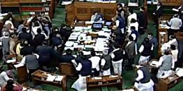 राहुल गांधी के बयान पर लोकसभा में झड़प, मंत्री की सीट पर पहुंचे कांग्रेसी