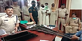 कैमूर पुलिस की बड़ी कार्रवाई, रायफल के साथ मुखिया पति गिरफ्तार