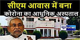 CM नीतीश के सरकारी आवास में खुला वेटिंलेटर युक्त कोरोना अस्पताल,6 डॉक्टर प्रतिनियुक्त