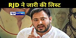 राजद ने आधिकारिक तौर पर 42 उम्मीदवारों की जारी की सूची,लिस्ट में अनंत सिंह का भी नाम,देखें...