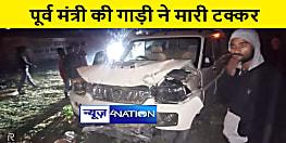 पूर्व मंत्री की गाड़ी ने कोचिंग संस्थान में मारी टक्कर, एक युवक गंभीर रूप से जख्मी