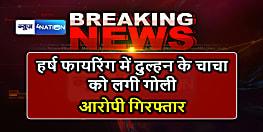 हर्ष फायरिंग के दौरान दुल्हन के चाचा को लगी गोली, आरोपी को पुलिस ने किया गिरफ्तार