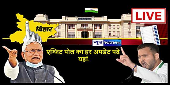 'बिहार विधानसभा चुनाव 2020' के एग्जिट पोल का हर अपडेट पढे यहां... बिहार में फिर से नीतीश कुमार या तेजस्वी सरकार...