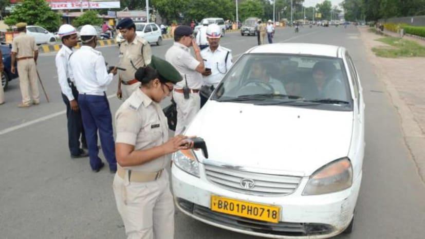 नया ट्रैफिक नियम: पटना में विशेष अभियान के दूसरे दिन 587 वाहनों से वसूला 5.71 लाख जुर्माना