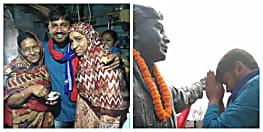 मां का आशीर्वाद लेकर नामांकन को घर से निकले कन्हैया कुमार, समर्थन में जमकर हुई नारेबाजी