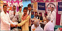 कांग्रेस नेता मंटू शर्मा ने पटना के परसा में किया किसानों के बीच बोनस का वितरण, पशुपालन करने की दी सलाह