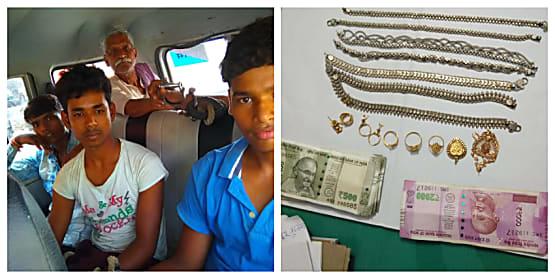 अपराध की योजना बनाते 6 गिरफ्तार, लाखों रुपए के गहने बरामद