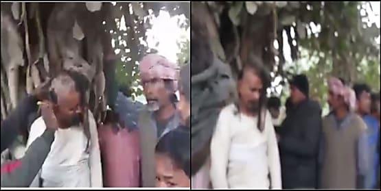 साधु के वेश में शैतान की घिनौनी करतूत!  ग्रामीणों ने पिटाई के बाद मुंडवाया सिर, वीडियो वायरल