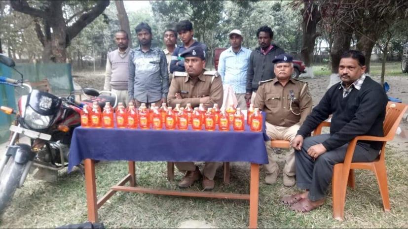 नेपाली शराब के साथ दो तस्कर गिरफ्तार