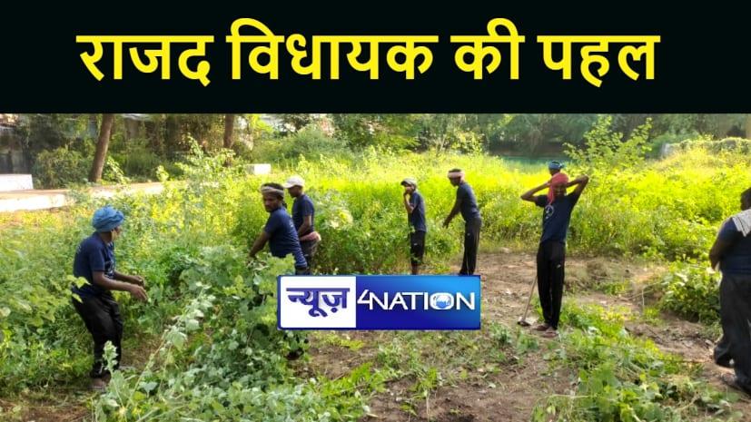 नवादा में राजद विधायक विभा देवी ने चलाया सफाई अभियान, कहा फेल है नगर परिषद्