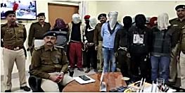 रोहतास में पुलिस को मिली सफलता, हथियार के साथ 10 अपराधियों को किया गिरफ्तार